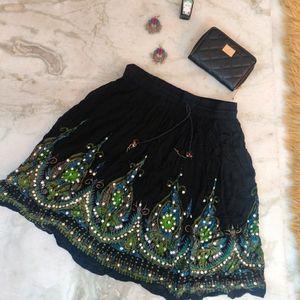Ethnic& Fancy Black Skirt